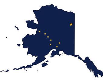 Alaska clipart shape. Etsy state flag map