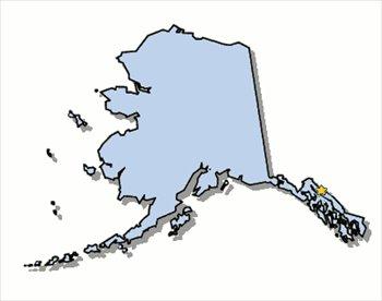 Free us states graphics. Alaska clipart shape