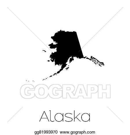 Stock illustration illustrated of. Alaska clipart shape