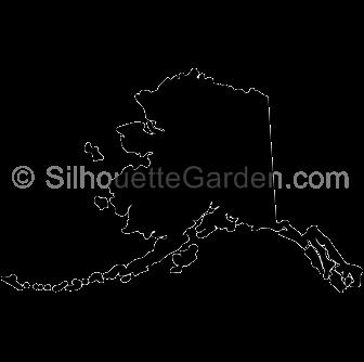 . Alaska clipart silhouette