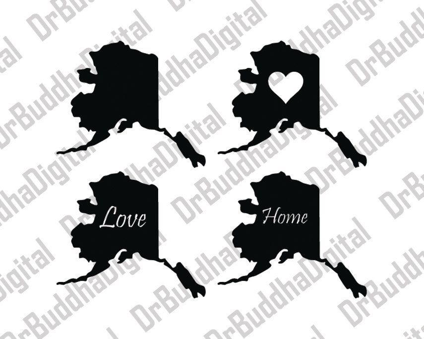 State svg collection dxf. Alaska clipart silhouette