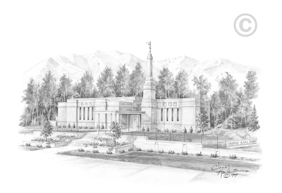 Alaska clipart sketch. Anchorage temple in ldsbookstore