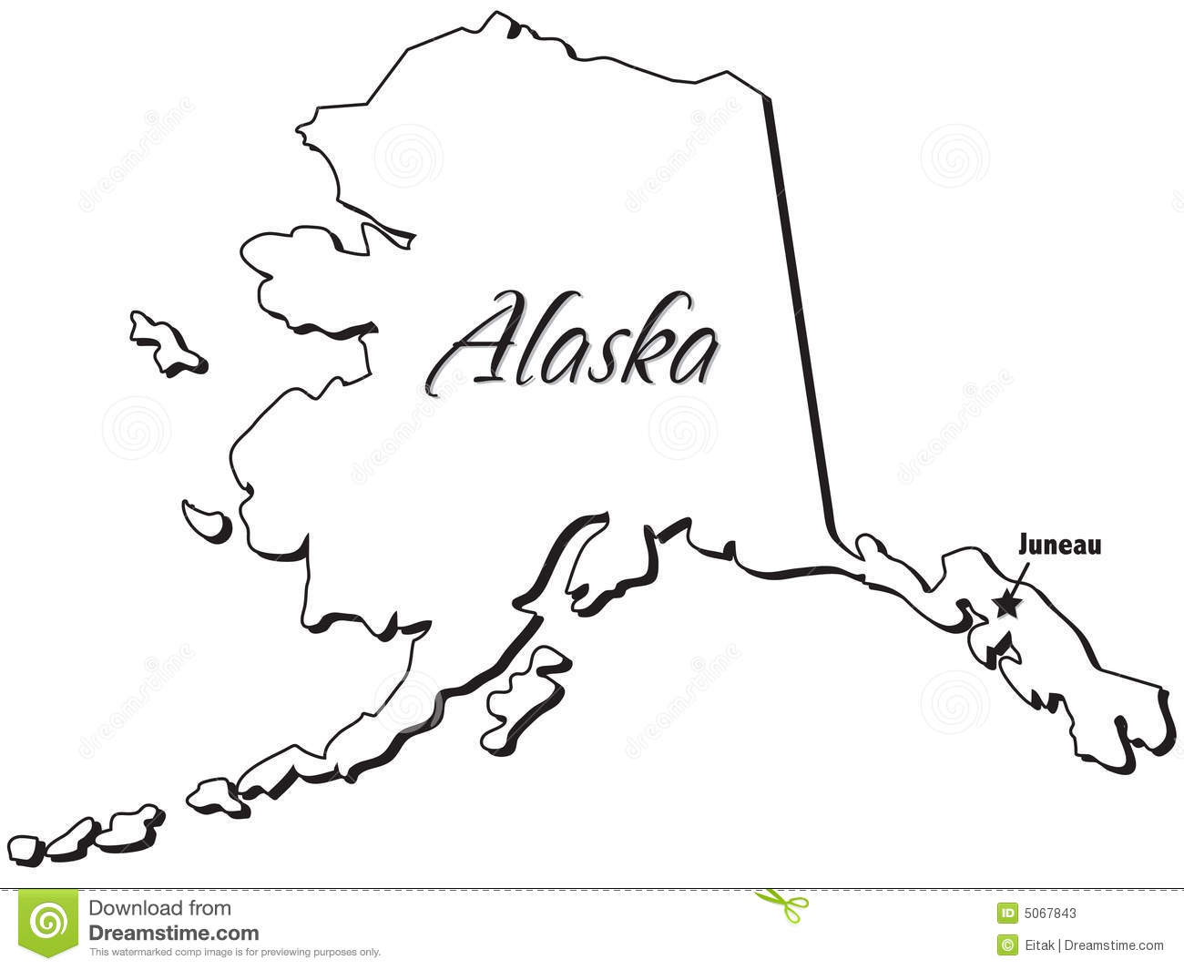 collection of map. Alaska clipart sketch