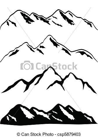 Alaska clipart snow mountain. Vectors of snowy peaks