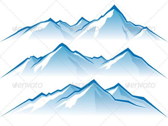 Mountains range silhouettes and. Alaska clipart snow mountain