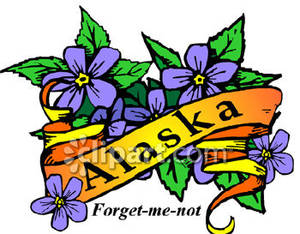Alaska clipart state. Flower of the forget