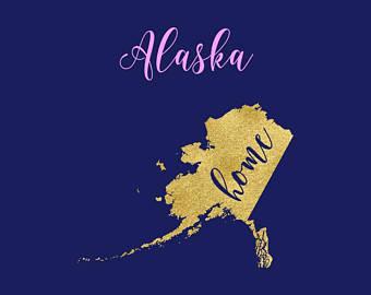 Alaska clipart vector. Etsy svg map welcome