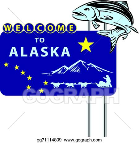 Alaska clipart vector. Stock stand welcome to