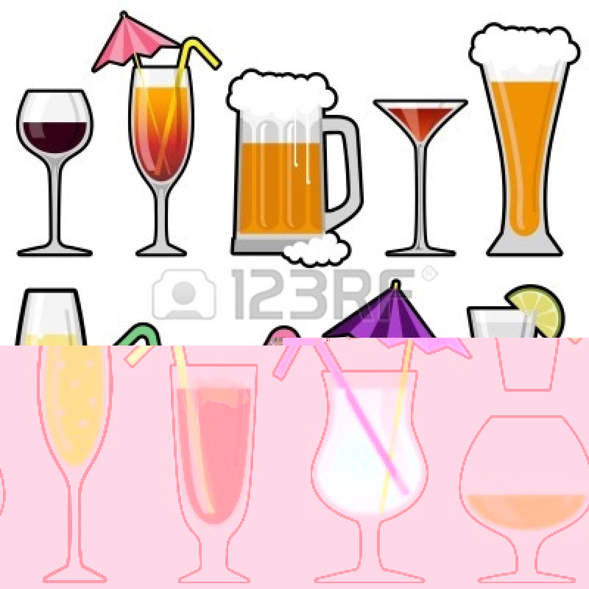 Alcoholic drinks . Alcohol clipart