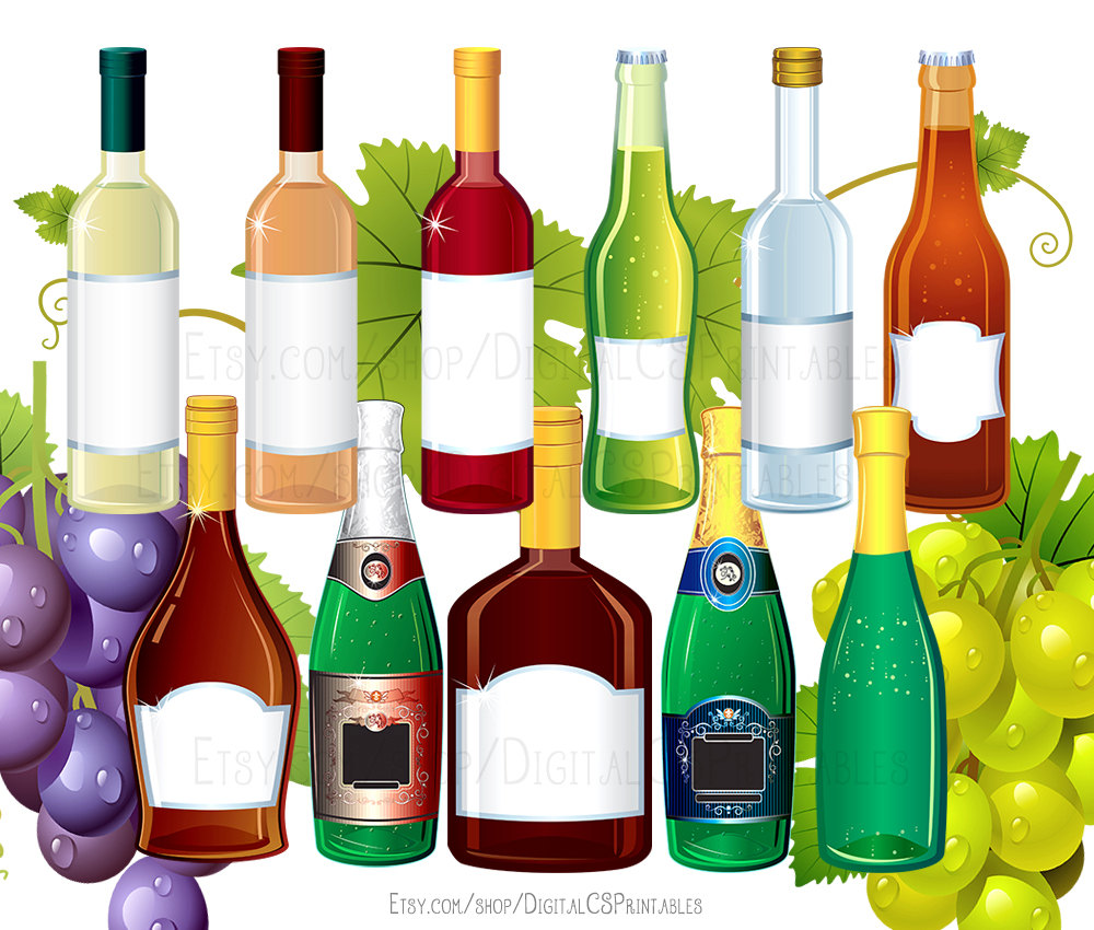 Alcohol clipart. Drink wine bottle
