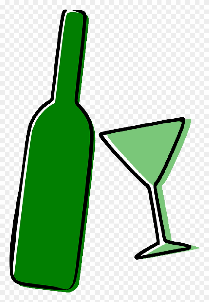 Alcohol clipart. Bottle drinks drunk glass