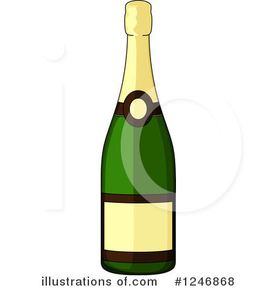 Champaign clipart alcohol. Illustration by vector tradition