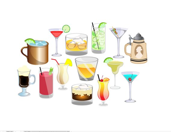 Cocktails clipart alcoholic drink. Happy hour alcohol beverages