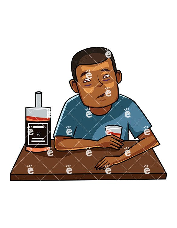 A black male drinking. Alcohol clipart alcoholism