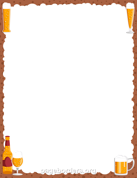 Border projects to try. Beer clipart frame