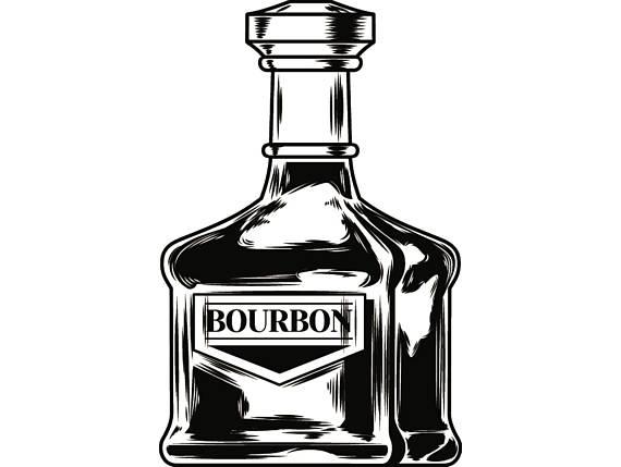 Bourbon liquor drink drinking. Bottle clipart alcohol