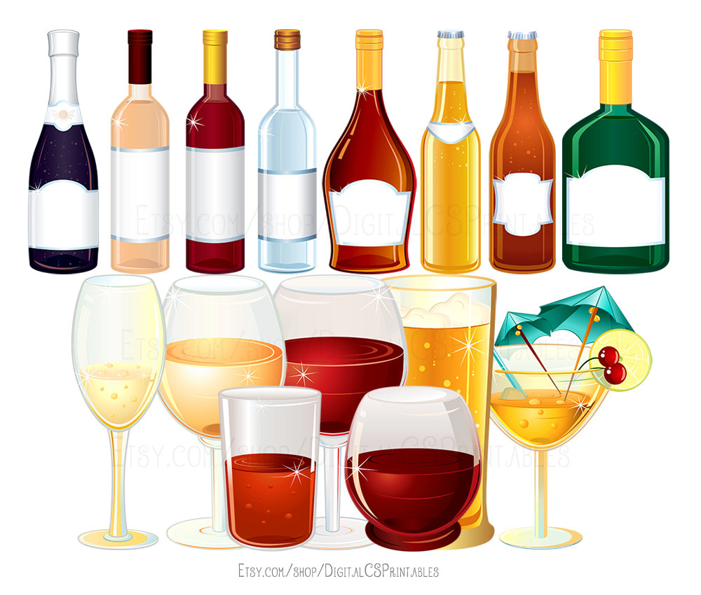 Champaign clipart wine spirit. Drink alcohol bottle