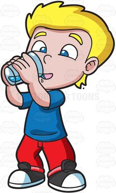 Alcohol clipart cute. A thirsty girl drinking