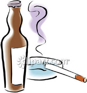 Alcohol clipart cute. Cigarettes and