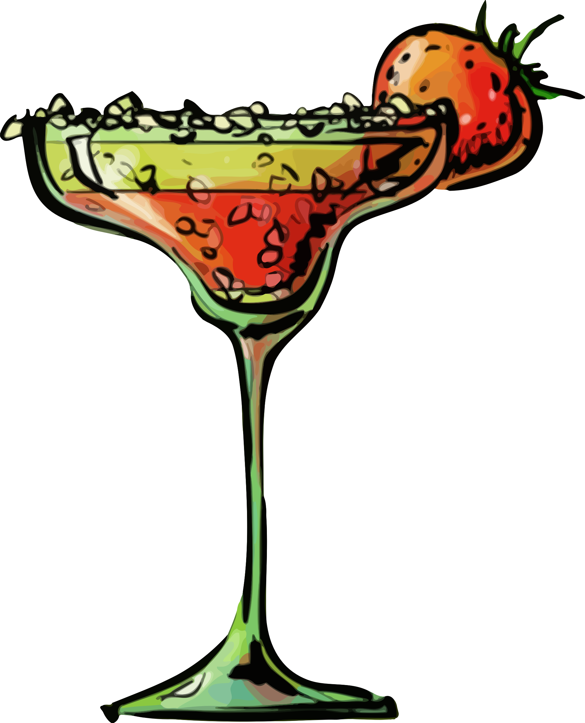 Strawberry daiquiri big image. Cocktail clipart cocktail shaker