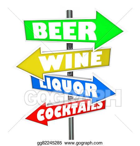 Alcohol clipart liquor store. Stock illustration beer wine