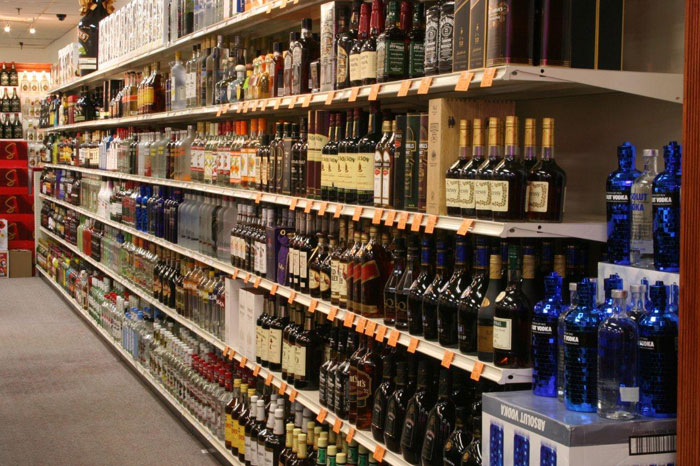 Alcohol clipart liquor store. Displays and shelving units