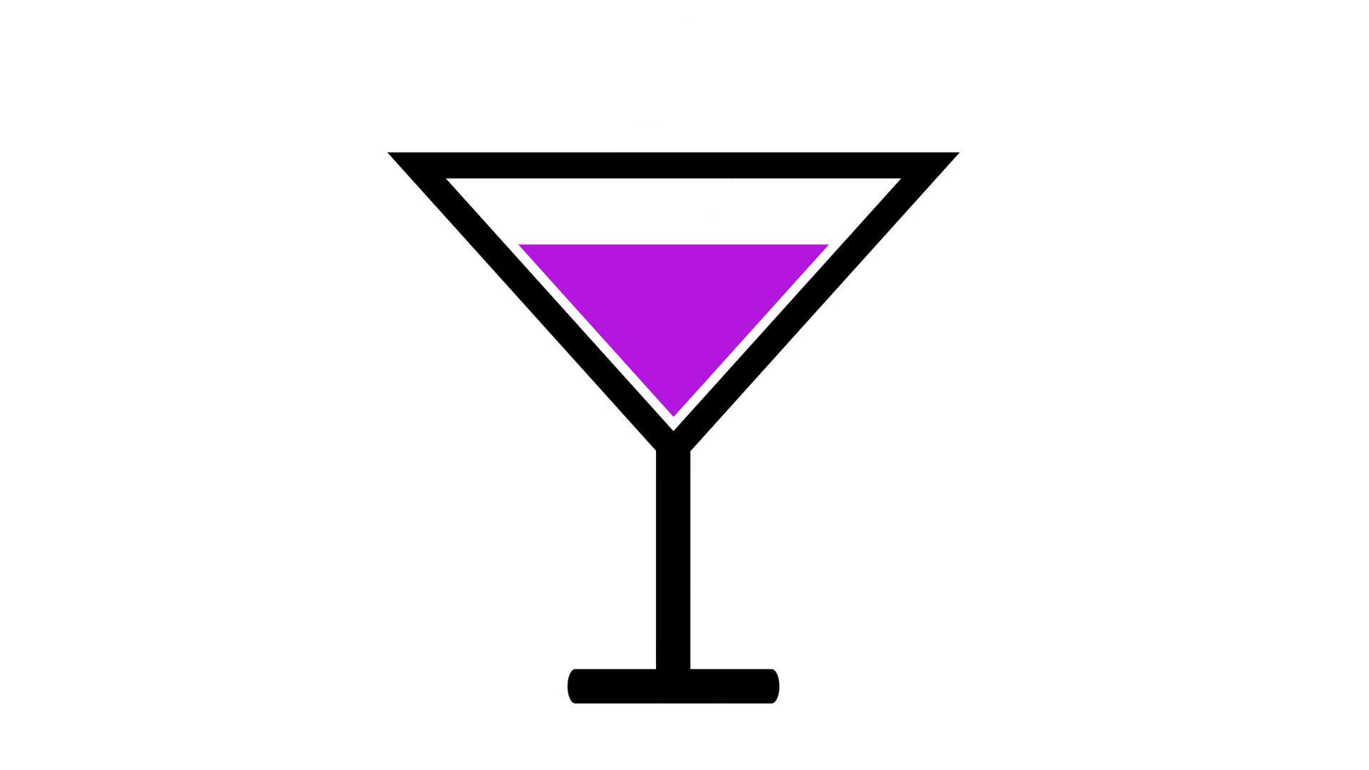 Purple alcoholic cocktail icon. Alcohol clipart mixed drink