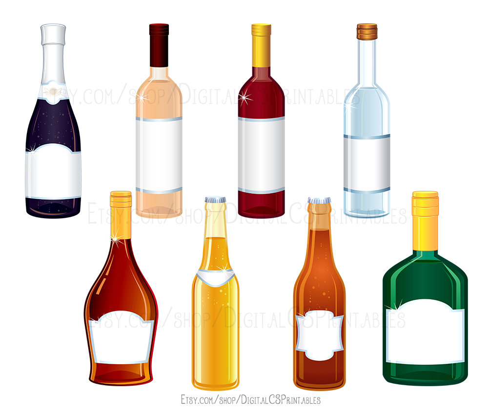 Alcohol clipart mixed drink. Wine bottle cocktail this