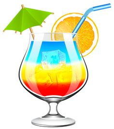 Drinks clipart. Exotic cocktail png picture