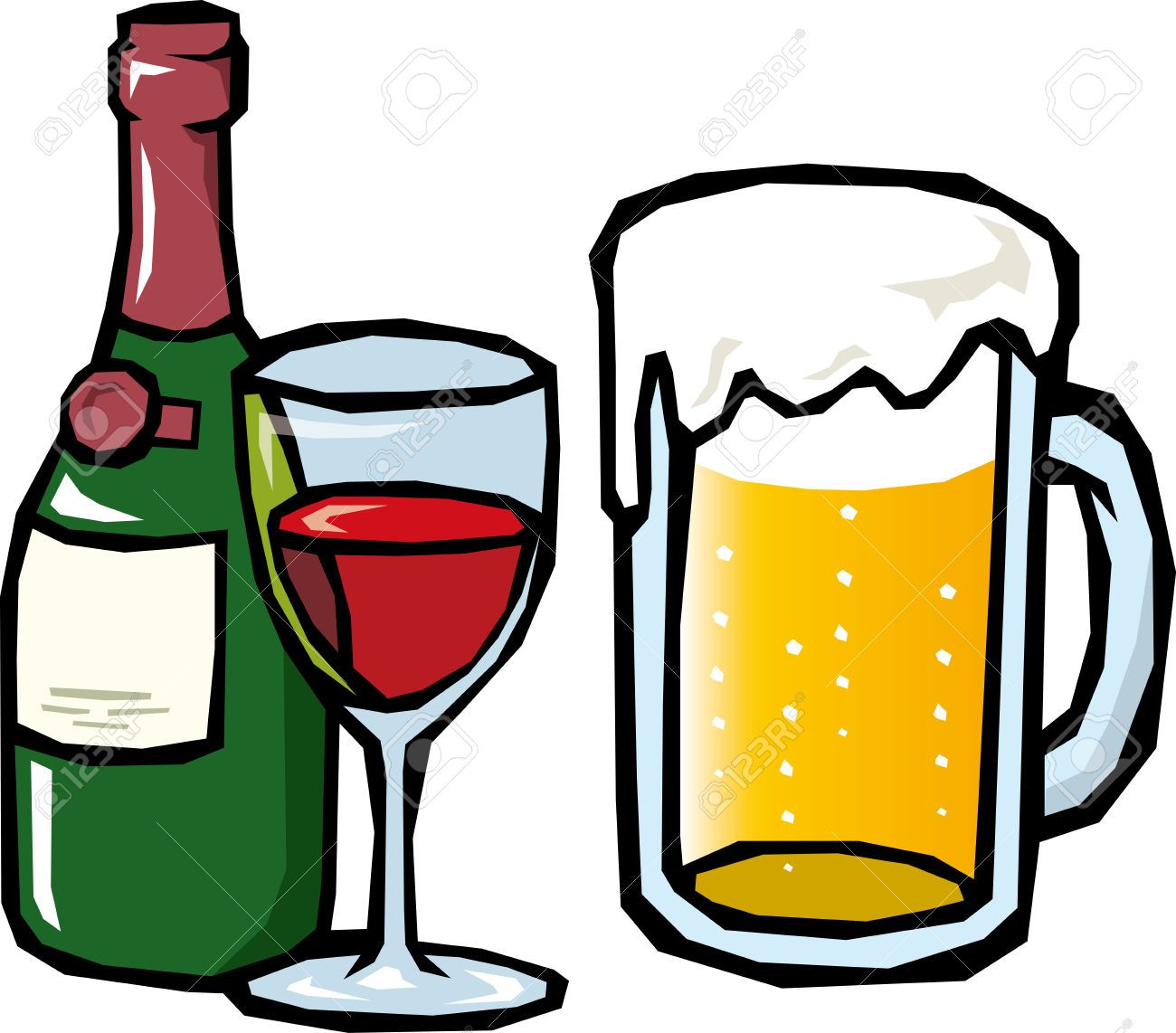 Clip art black and. Beer clipart alcoholic drink