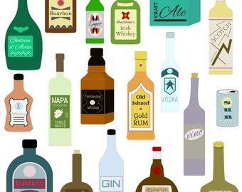 Bar clipart alcohol. Etsy liquor bottle dpi