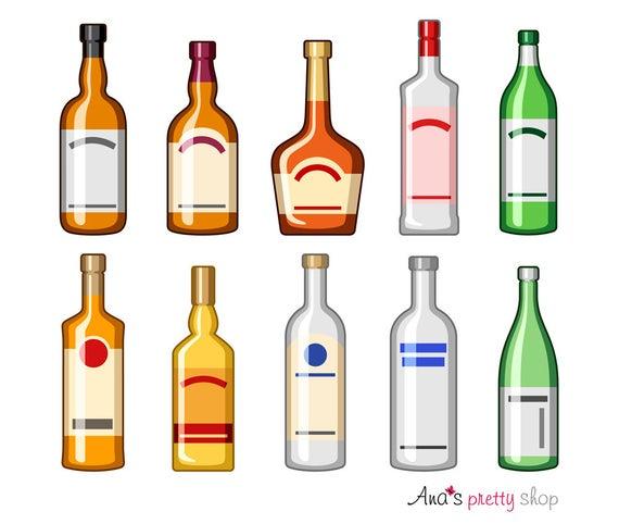 Alcohol bottles drinks bourbon. Drinking clipart brandy bottle