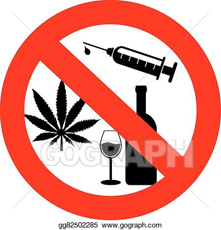 Vector no drugs and. Drinking clipart drug alcohol