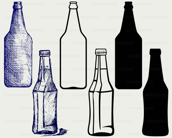 Beer bottle svg drink. Alcohol clipart silhouette