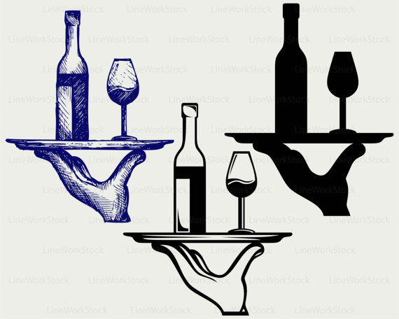 Alcohol clipart silhouette. Wine bottle svg drink