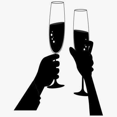 Banquet social alcoholic beverages. Alcohol clipart silhouette