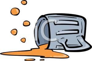 A pint of beer. Beaker clipart spilled