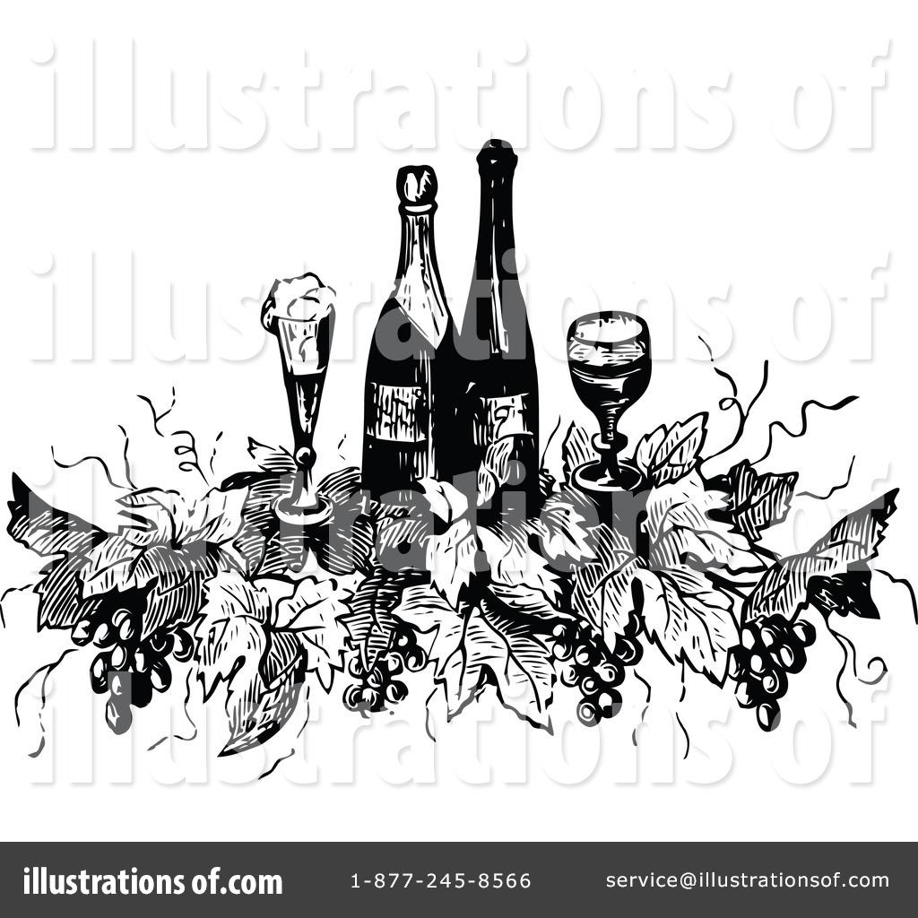 Illustration by prawny royaltyfree. Drinking clipart vintage wine bottle