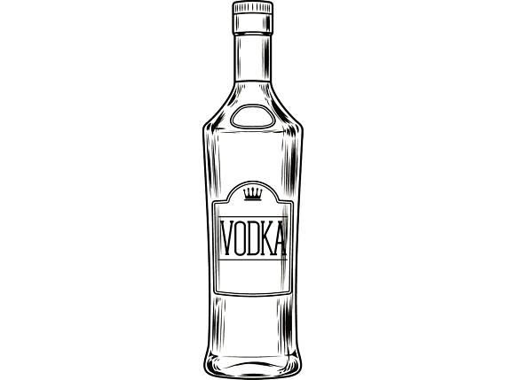 Bottle vodka liquor drink. Bar clipart alcohol