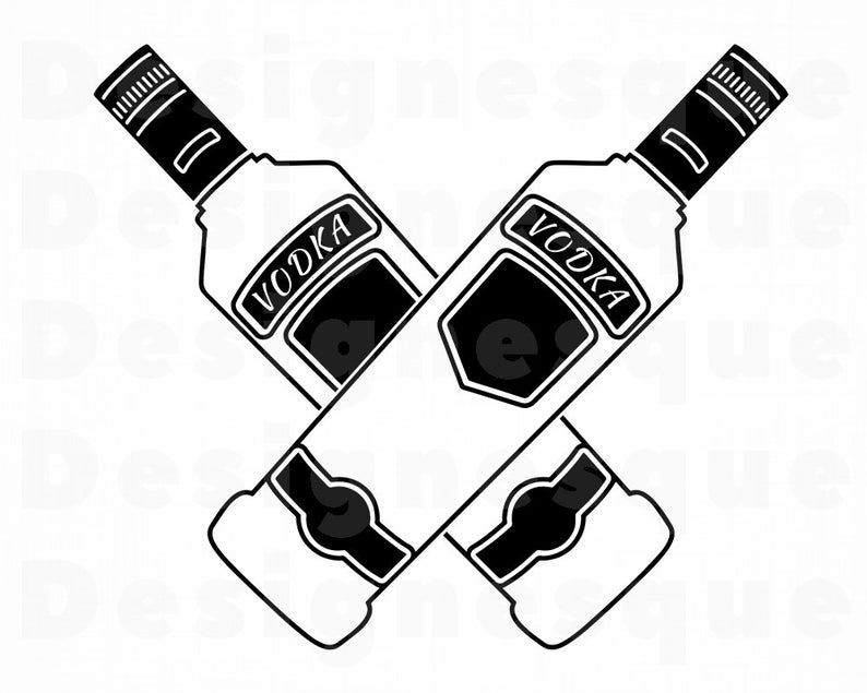 Logo svg files for. Alcohol clipart vodka bottle