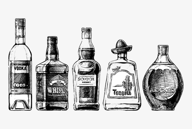 Alcohol clipart vodka bottle. All kinds of bottles