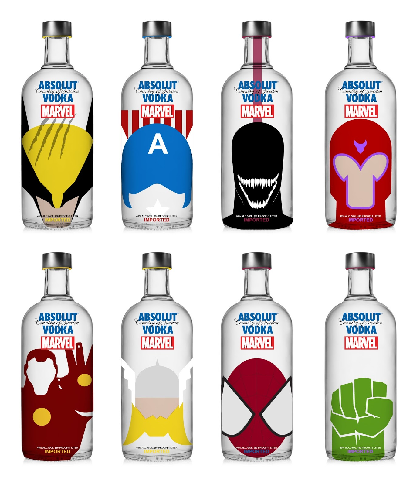 Alcohol clipart vodka bottle. Absolut x marvel concept