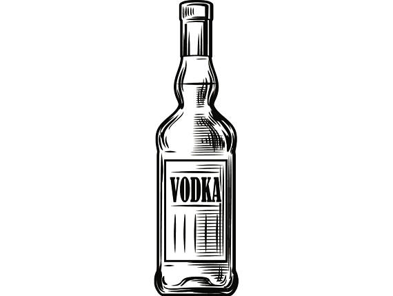 Liquor drink drinking cocktail. Alcohol clipart vodka bottle