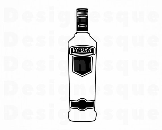 Svg files for cricut. Alcohol clipart vodka bottle