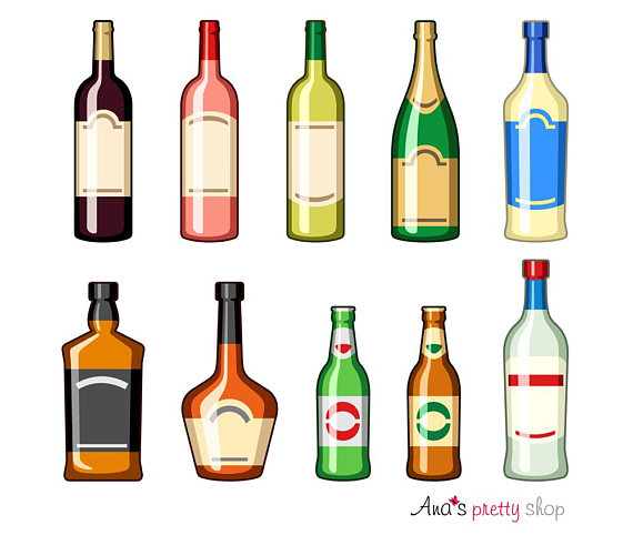Champaign clipart liquor bottle. Alcohol bottles drinks wine