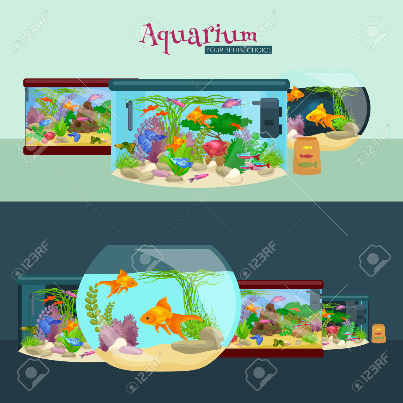 Fish tank plant pencil. Algae clipart cartoon