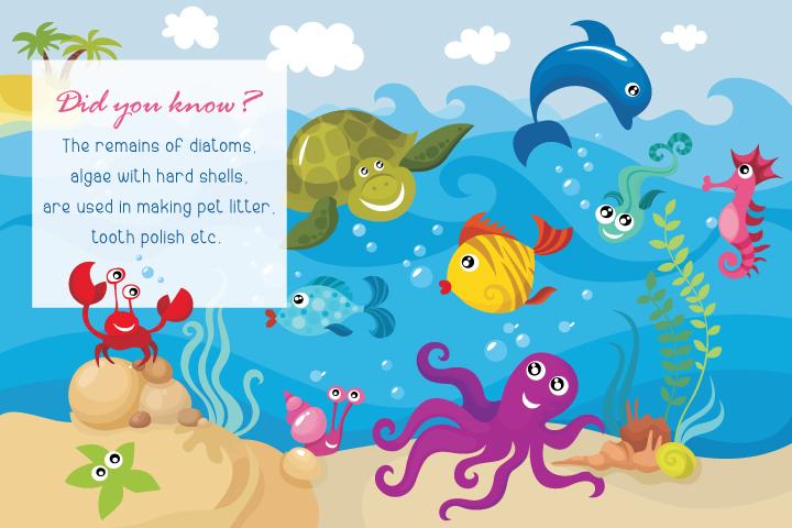 educative and fun. Algae clipart creature