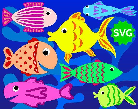assorted svg fishes. Algae clipart creature