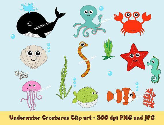 Underwater Creatures Clip art