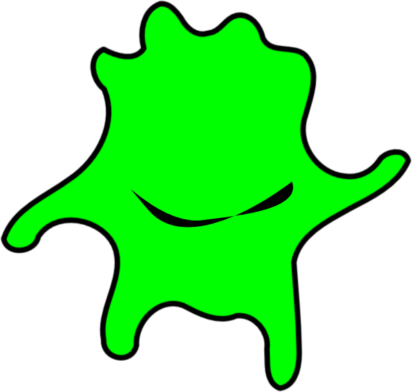 Green algae clip art. Cell clipart happy